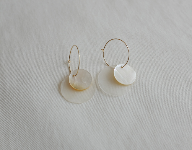 25mm Ring Pearl Earring