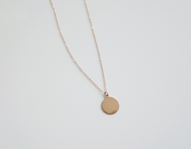 Rosegold Circle Necklace