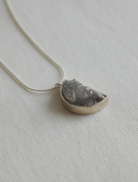 Real Moon Agate Necklace
