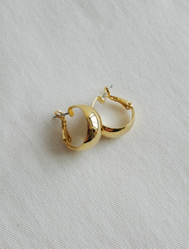 Smooth Ring Earring