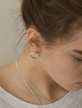 Melting Ring Earring