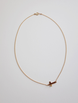 Gold Big Cross Necklace