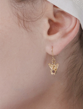 Flower Wing Mini Earring