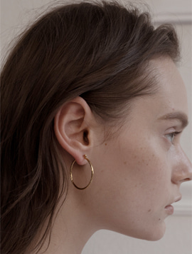 Twist Simple Earring (Circle)