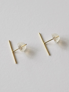 14k gold Simple Bar Earring