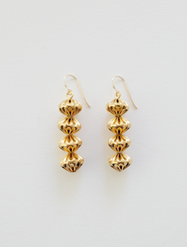 Chubby Pleats Ball Earring
