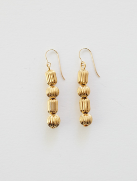 Pleats Ball Simple Earring