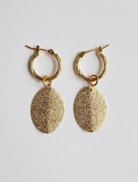 2way Ring Glitter Charm Earring (링과 참 분리 가능)