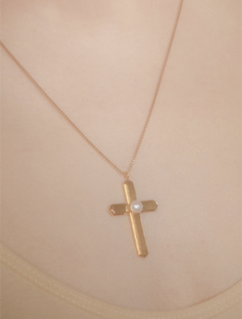 Stair Cross Necklace