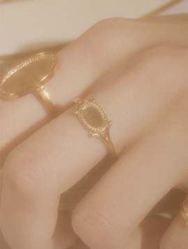 Antique Mirror Mini Ring