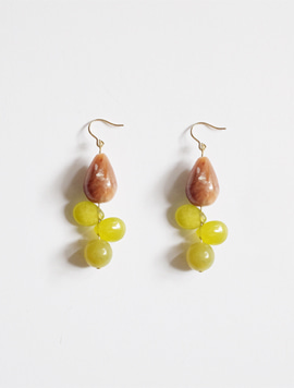 Grape Flower Earring