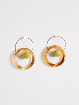 Ring Green Earring