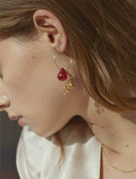 One Berry Ring Earring