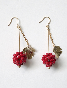 Burgundy Berry Earring