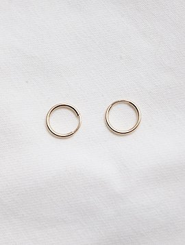 12mm, 16mm Pipe Earring