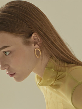 Oval Texture Earring