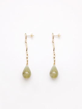 Green Flow Drop Earring