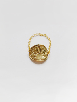 Oat Chain Ring  (Gold)