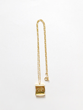 Old Paper Necklace - L (Gold)