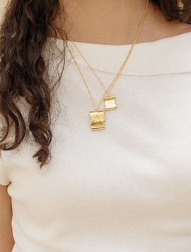 Old Paper Necklace - S (Gold)