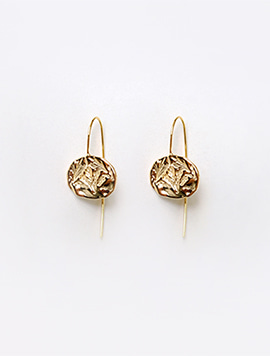 Oat Circle Earring (Gold)
