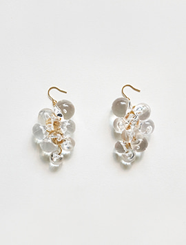 Clear Pure Grape Earring