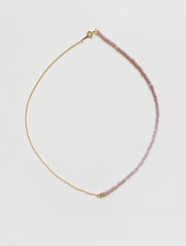 Violet Seeds Chain Necklace (Gold)