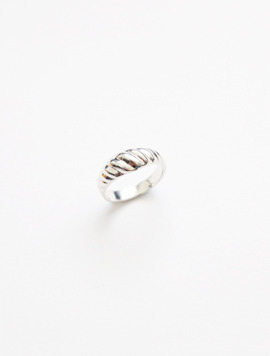 Diagonal Ring S size - Silver