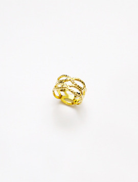 Fabric tissue Ring - Gold