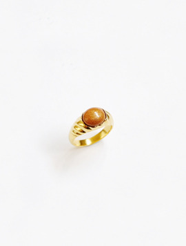 Diagonal Setting Ring - Gold