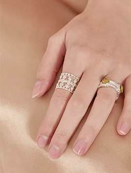 Antique Garden Ring - Gold, Silver